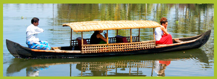 Canoeing in Alleppey